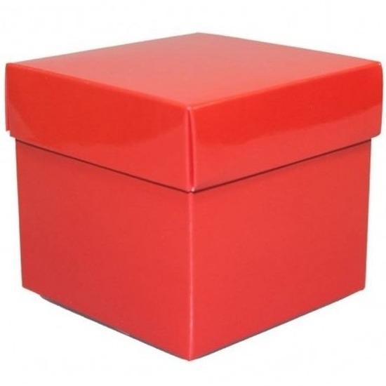 Kado verpakking doosje rood 10 cm