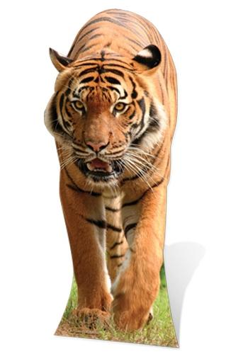Kartonnen decoratie bord grote tijger