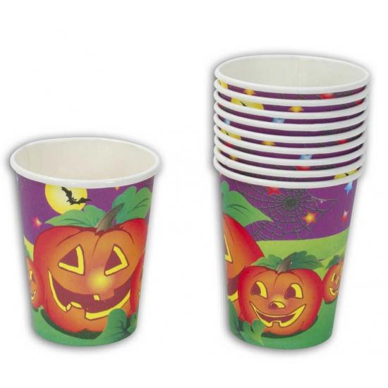 Kartonnen Halloween bekers 10 stuks