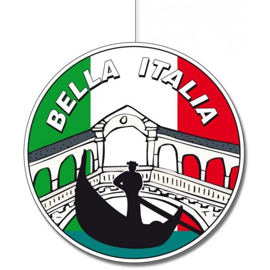Kartonnen Italie hangdecoratie 28 cm