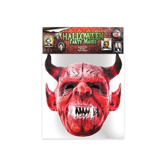 Kartonnen masker Duivel