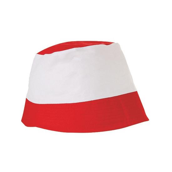 Katoenen zonnehoedjes rood wit