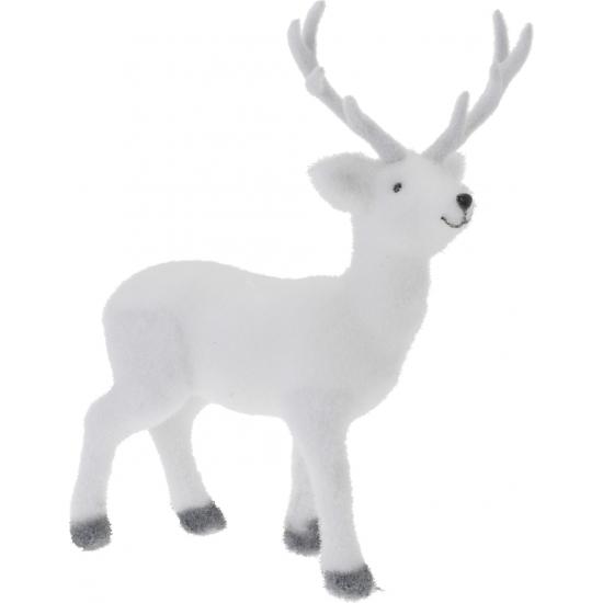 Kerst decoratie hert wit 38 cm