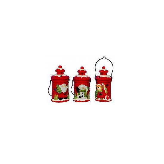 Kerst decoratie sneeuwpop lantaarn