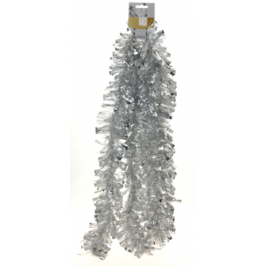Kerst folie slinger zilver 270 cm