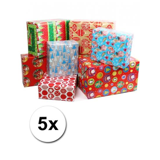 Kerst kadorollen 5 stuks