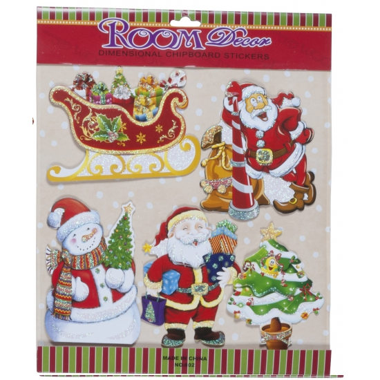 Kerst stickers type 1