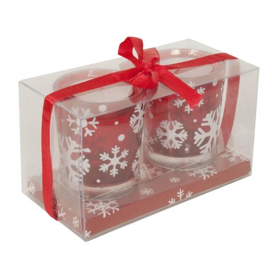 Kerst waxinelicht houders