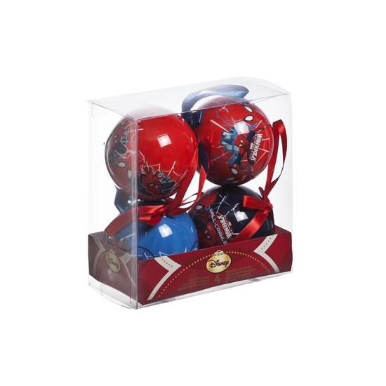 Kerstballen Spiderman 4 stuks