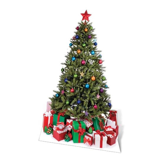 Kerstboom decoratiebord