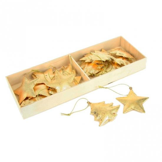 Kerstboom hangers goudkleurig