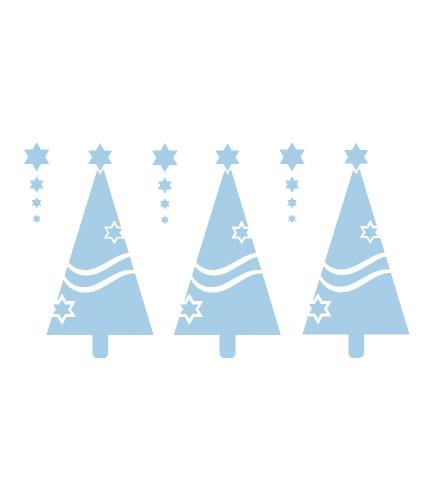 Kerstboom sjabloon raamdecoratie