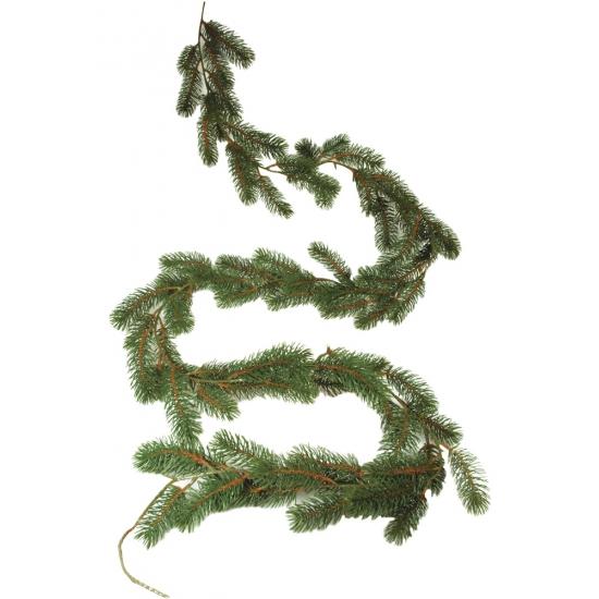 Kerstdecoratie dennen slinger 180 cm