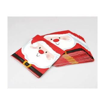 Kerstman servetjes 16 x 16 cm