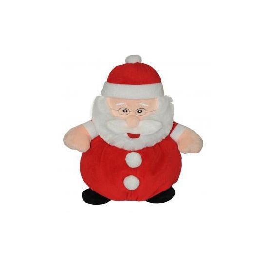 Kerstmanknuffel van pluche 25 cm