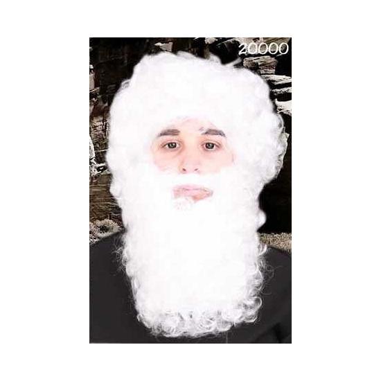 Kerstmannen baard met snor wit