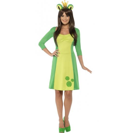 Kikker kostuum voor dames met diadeem