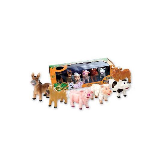 Kinder boerderij knijpdieren 6 stuks