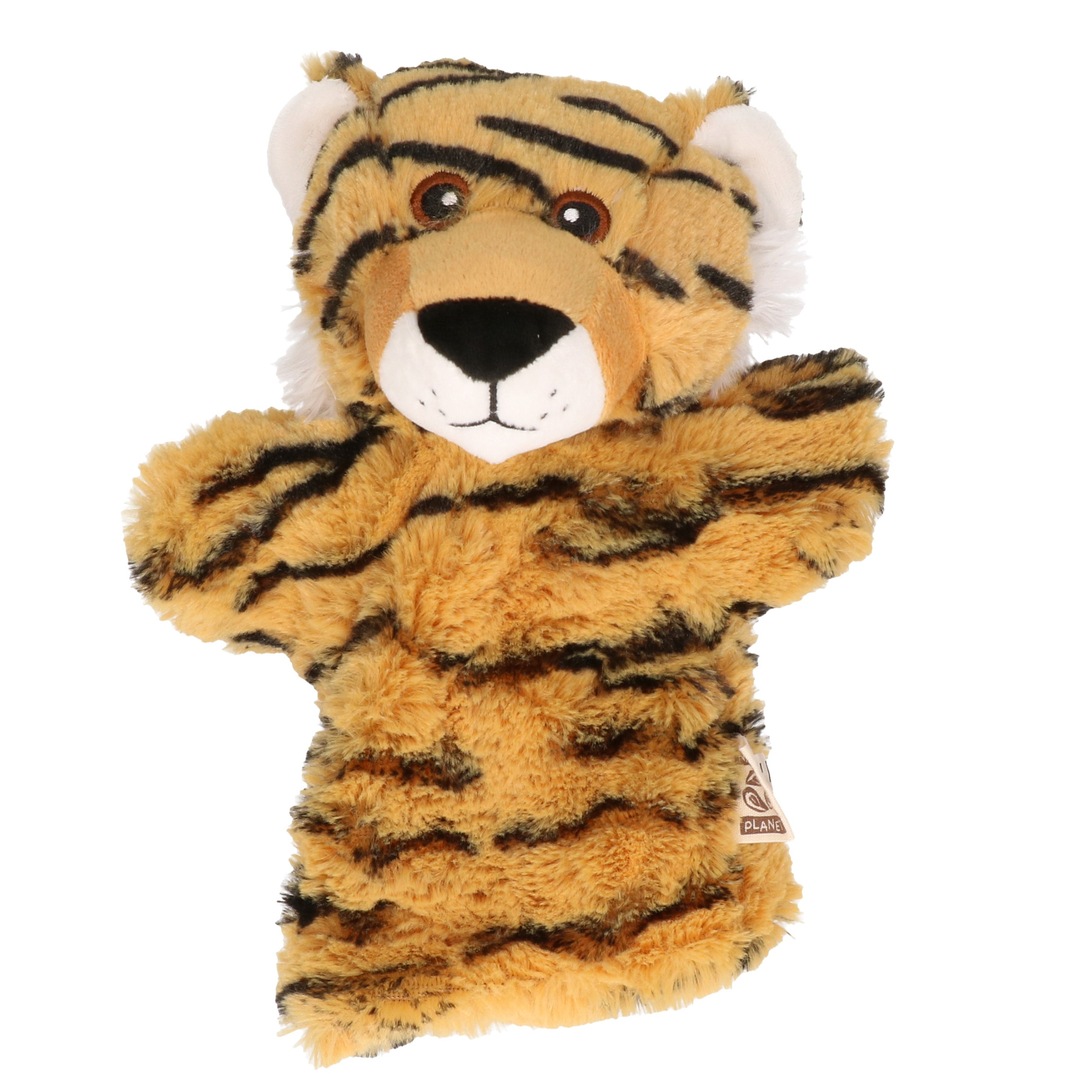 Kinder handpoppen tijger 22 cm