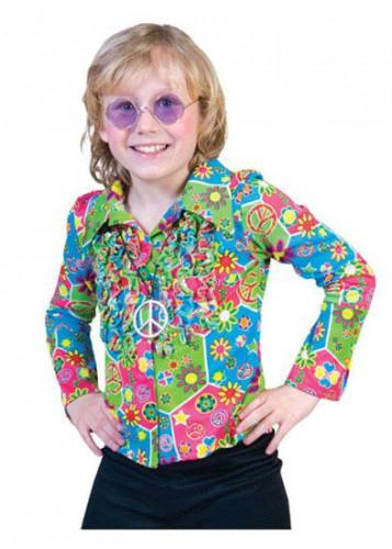 Kinder hippie shirt met knopen