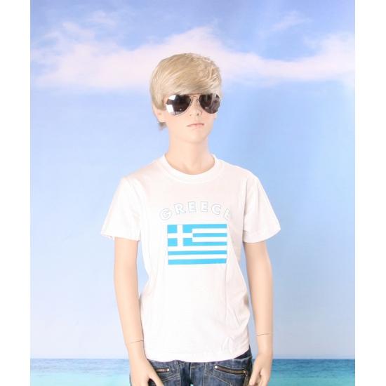 Kinder shirts met vlag van Griekenland