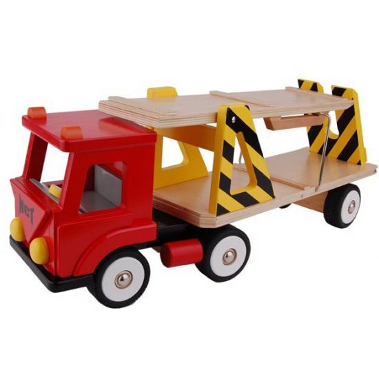 Kinder speelgoed vrachtwagen rood