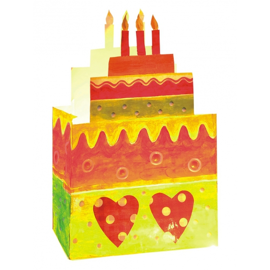 Kinder taart candle bag 4 stuks