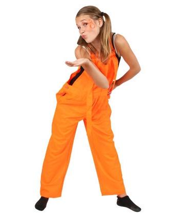 Kinder tuinbroeken oranje