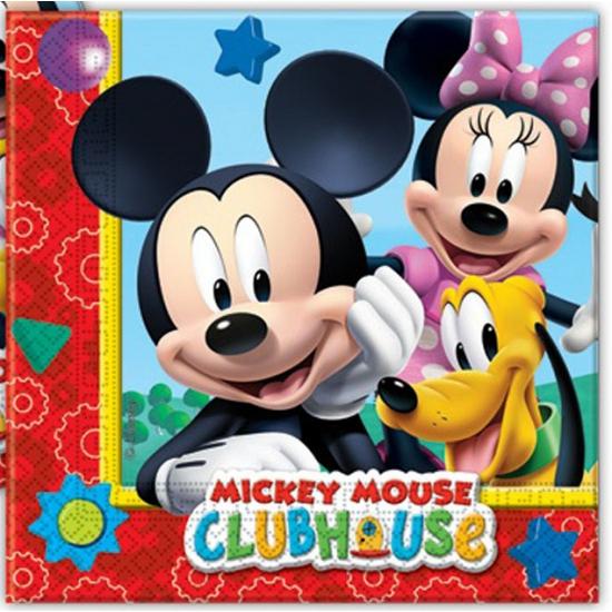 Kinder verjaardag servetten Mickey Mouse 20 stuks