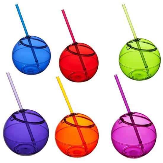 Kinderbeker drink bal met rietje