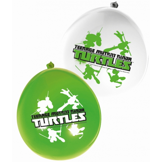 Kinderfeest ballonnen Ninja Turtles 12 stuks