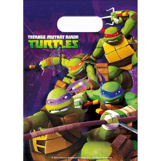 Kinderfeest uitdeelzakjes Ninja Turtles 6 stuks