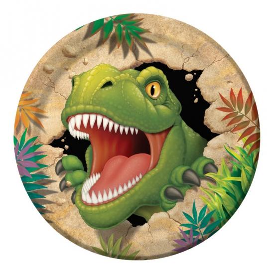Kinderfeestje dinosaurus bordjes 8 stuks