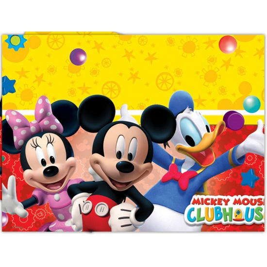 Kinderfeestje Mickey Mouse tafelkleed 120 x 180 cm