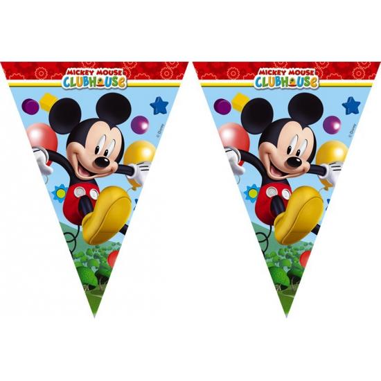 Kinderfeestje vlaggetjes Mickey Mouse 2, 3 meter