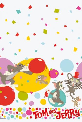 Kinderpartijtje tafelkleed Tom en Jerry