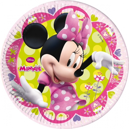 Kinderverjaardag bordje Minnie Mouse 8 stuks