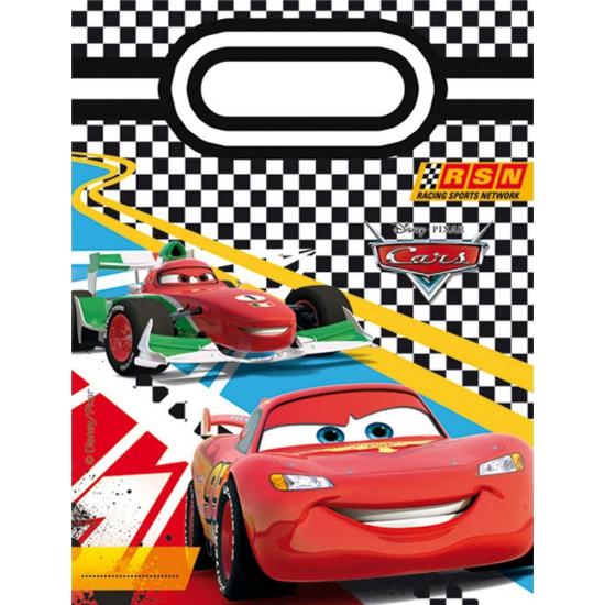 Kinderverjaardag Cars feestzakjes 6 stuks