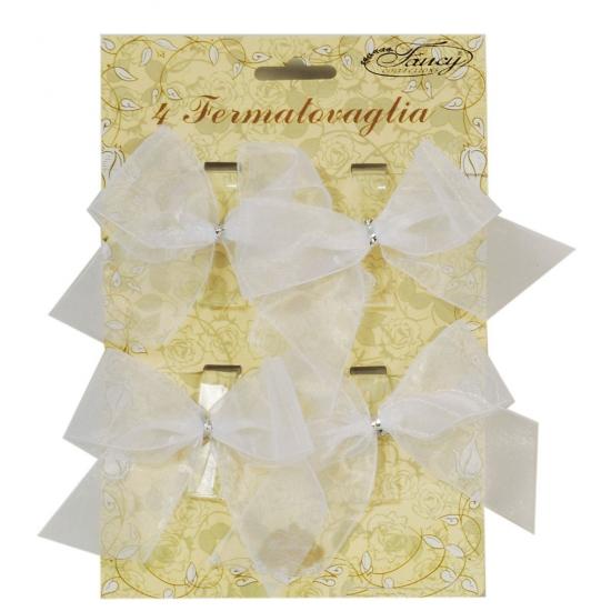 Klemmetjes met strik voor tafelkleed 4 stuks
