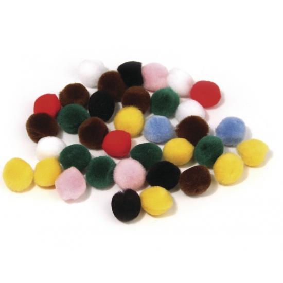 Knutsel pompons kleurenassortiment 7 mm