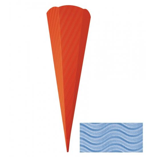 Knutsel schoolzak karton lichtblauw 68 cm