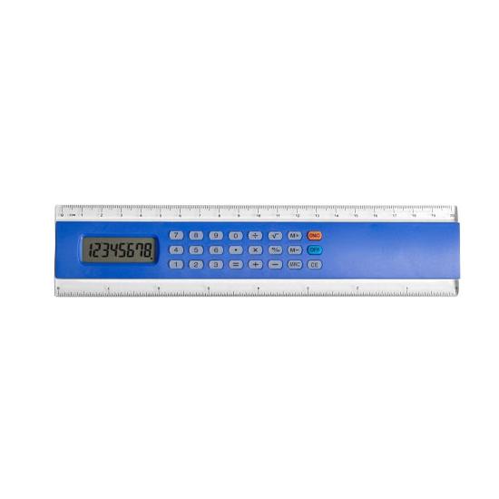 Knutselliniaal met rekenmachine blauw