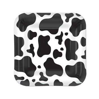 Koe bordjes vierkant 8 stuks