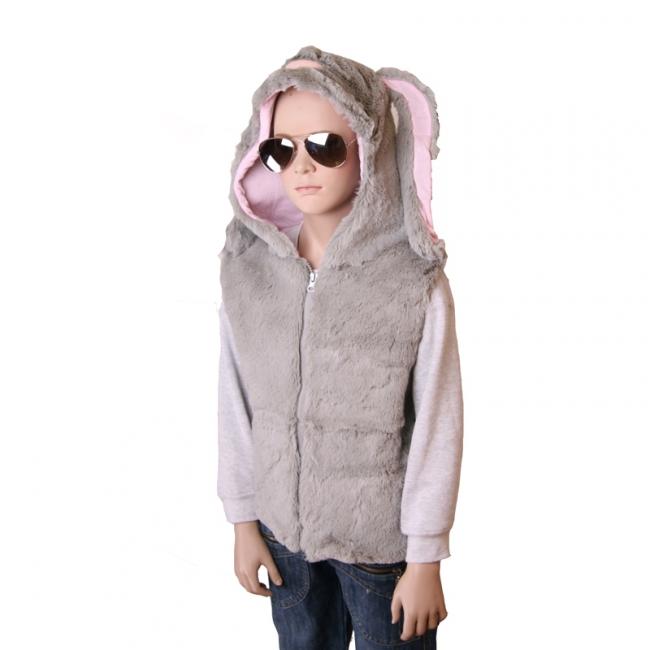 Konijn vestje met capuchon voor kinderen