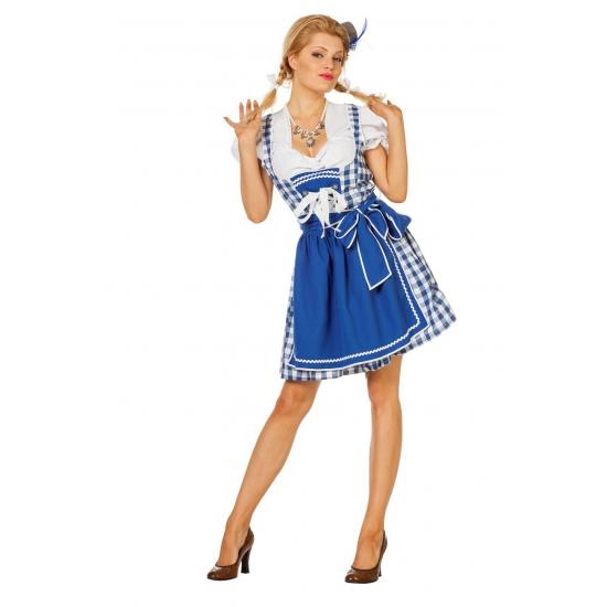 Korte Tiroler jurk blauw
