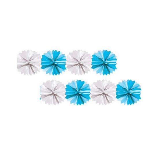 Kraamdecoratie slinger blauw en wit