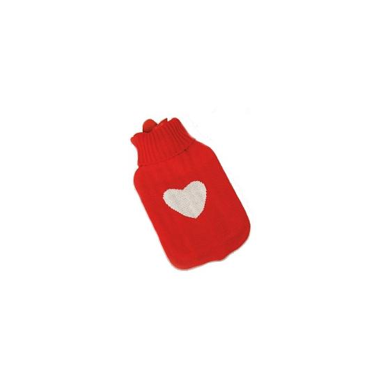Kruik met hart rood 35 cm