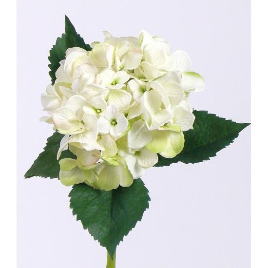 Kunst bloem hortensia 48 cm wit