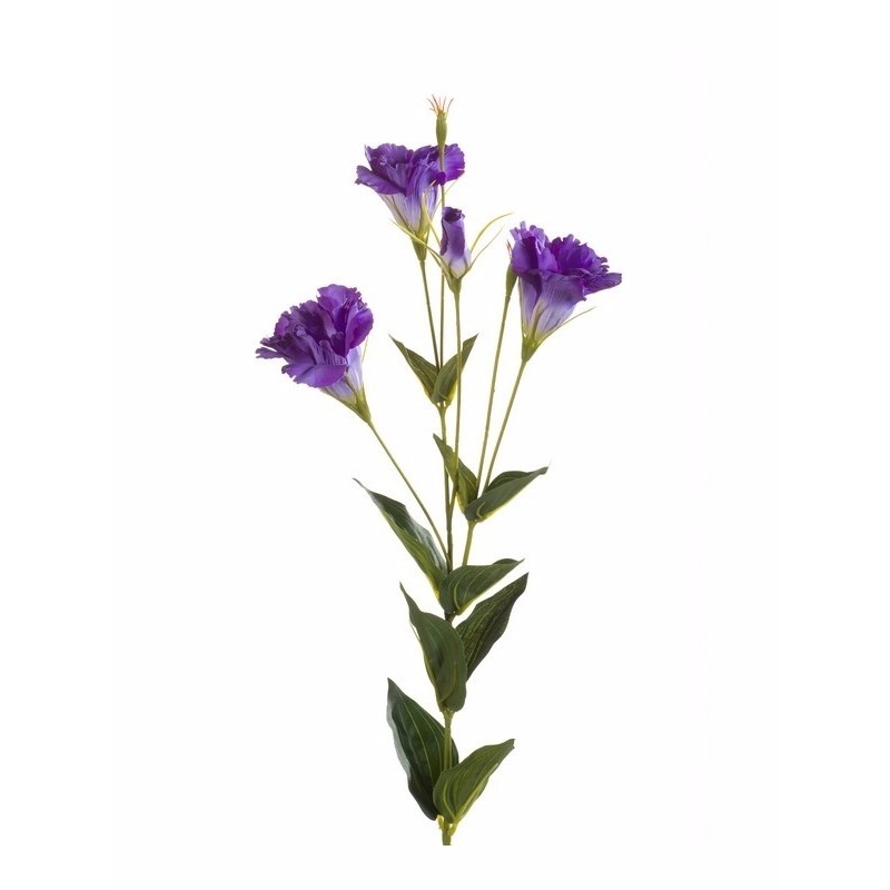 Kunst Lisianthus tak 85 cm paars