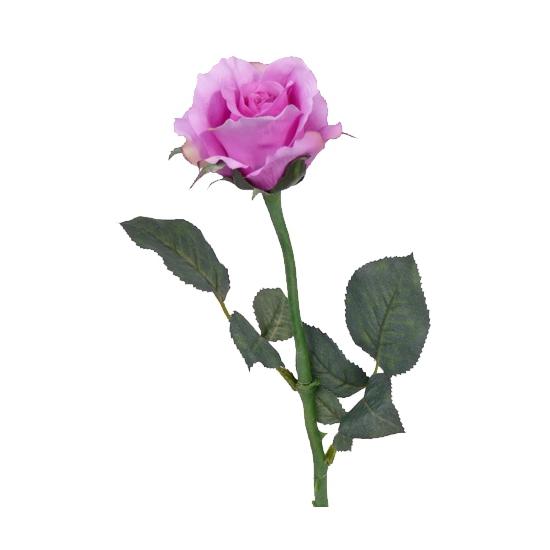 Kunst rozen paars 58 cm